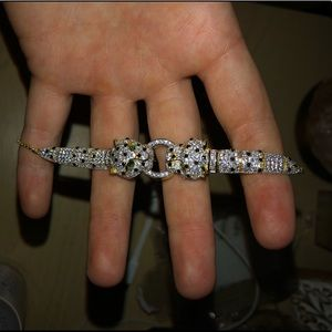 Jewelry - Never worn double panther head bracelet